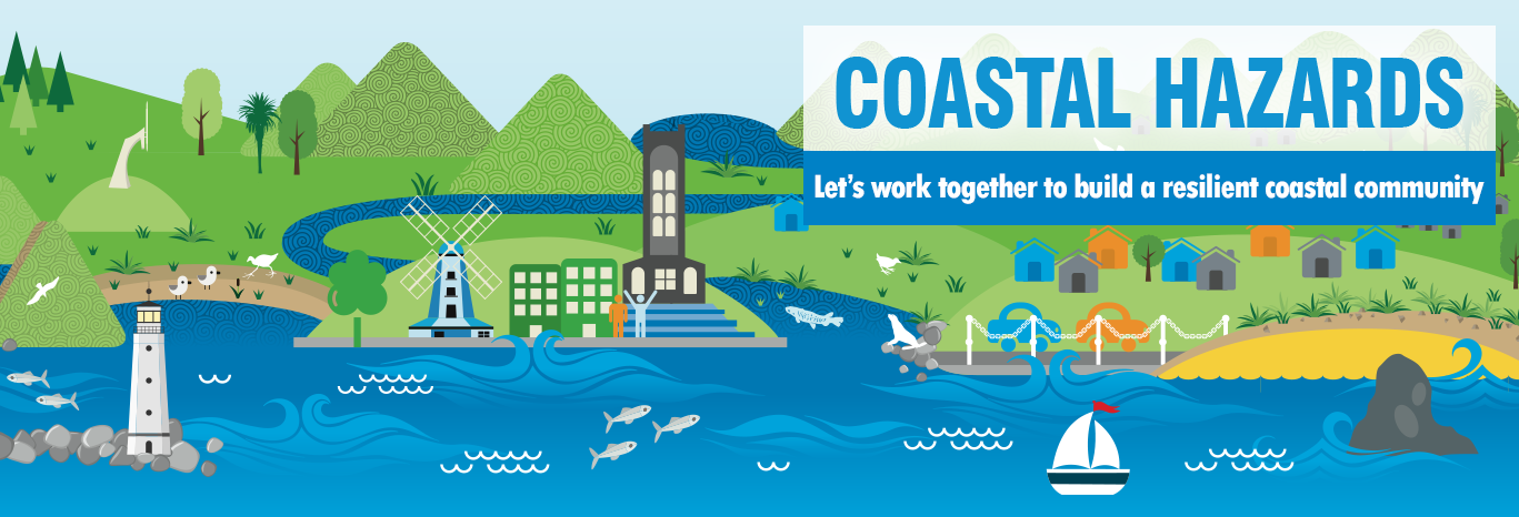 coastal hazards banner with tagline