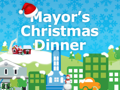 mayors christmas dinner promo snow