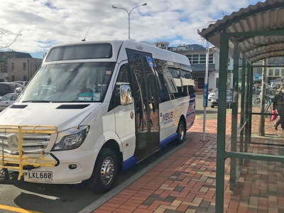 new nbus parked by carpark stop