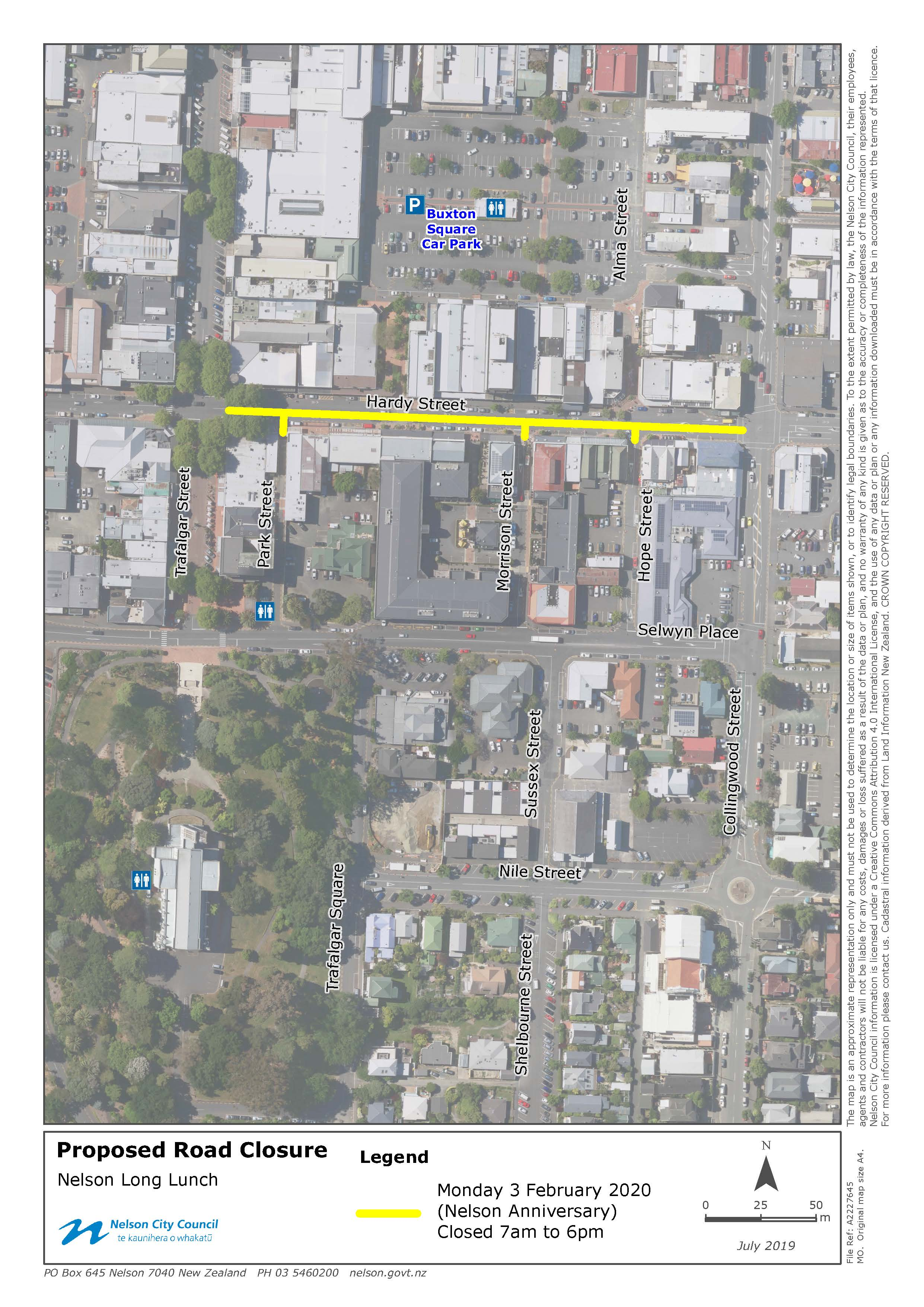 GIS 2020 Nelson Long Lunch Hardy Street Proposed Road Closure 16Jul2019 A2227645