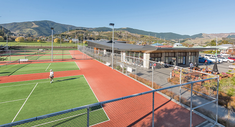 Tennis Courts and Cafe at Greenmeadows
